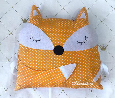 Бортик подушка лиса