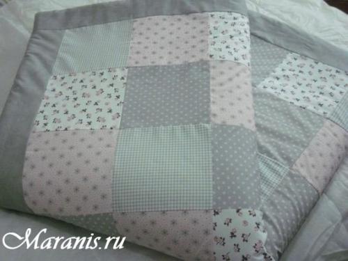 Лоскутное одеяло в кроватку / арт.007