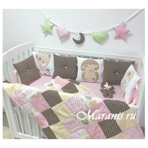 Детское лоскутное одеяло / арт.012