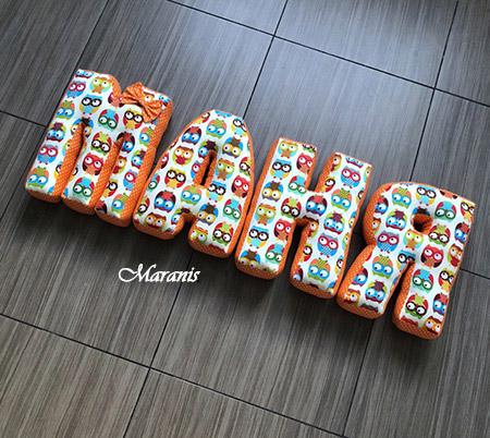 Подушки буквы Маня / арт. 52