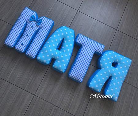Подушки буквы Матя/ арт. 53