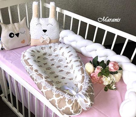 Кокон гнездо для младенцев фото