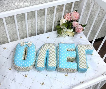 Буквы подушки Олег / арт. 111