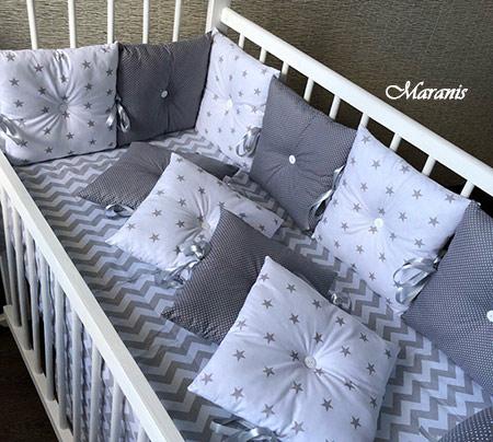 Комплект бортиков кроватку