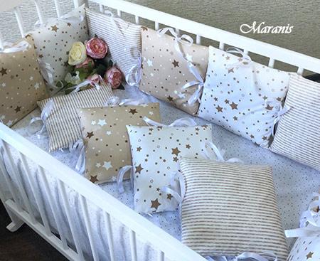 Бортики на детскую кровать фото
