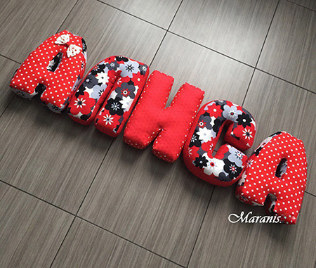 Подушки буквы Алёна фото