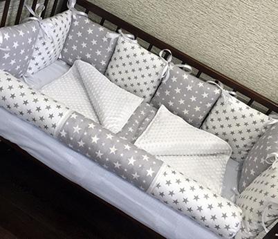 Плед в кроватку новорожденного /арт.1
