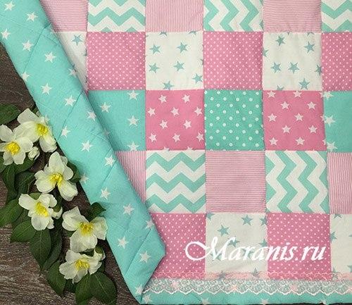 Лоскутное одеяло для девочки / арт.011