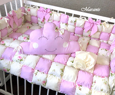 Комплект в кроватку в стиле бонбон фото