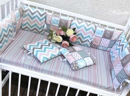 Бортик подушки для кровати