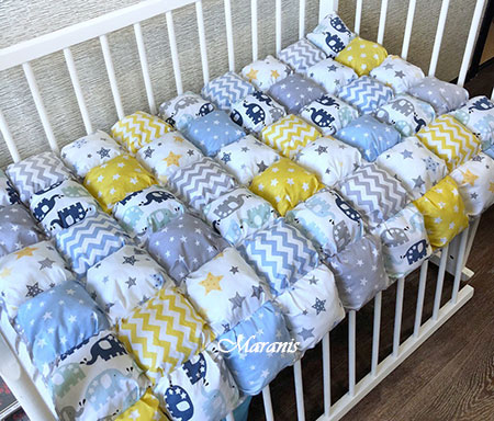Одеяло бонбон в детскую кроватку фото