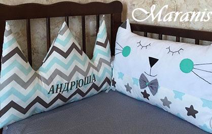 Подушка корона в кроватку