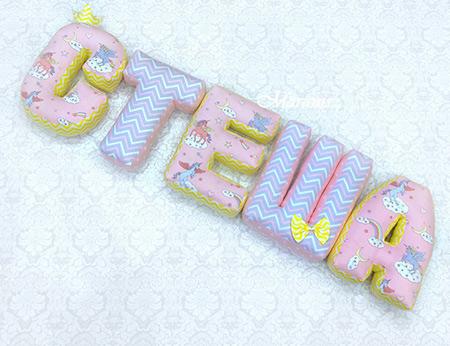 Подушки буквы Стеша фото