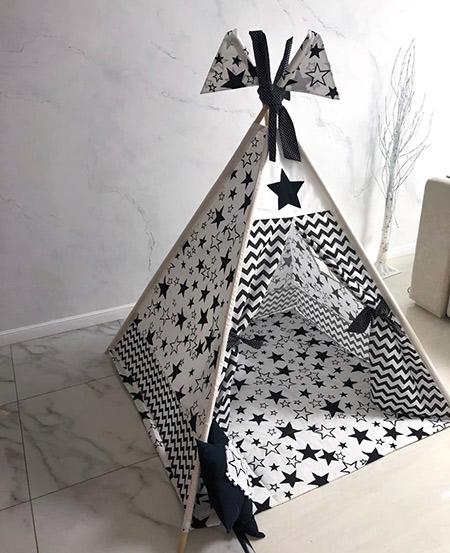 Вигвам для детей «Черная звезда»