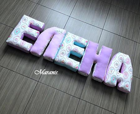Подушки буквы Елена фото