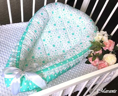 Гнездо кокон для новорожденных фото