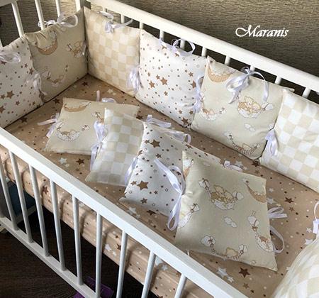 Бампер для детской кроватки фото