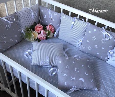 Бортики для детской кроватки от падения фото