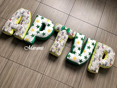 Подушки буквы Артур фото