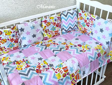 Комплект в детскую кроватку для новорожденных Радость фото
