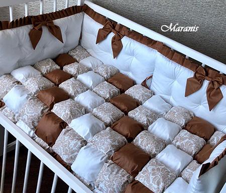 Комплект в детскую кроватку Кофе с молоком фото