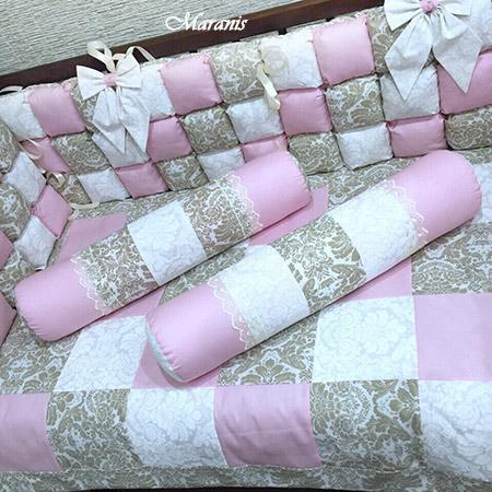 Комплект в кроватку новорожденных дамаск фото