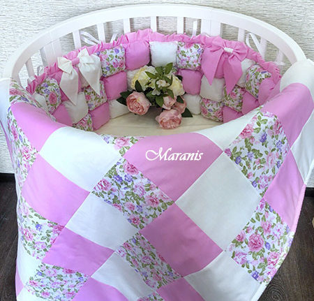 Комплект в круглую кроватку «Малина» фото