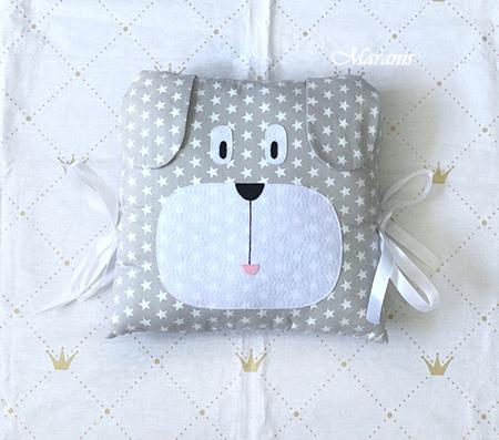 Подушка бортик собачка в кроватку