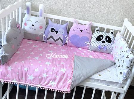Комплект в кроватку «Розовый рассвет» фото